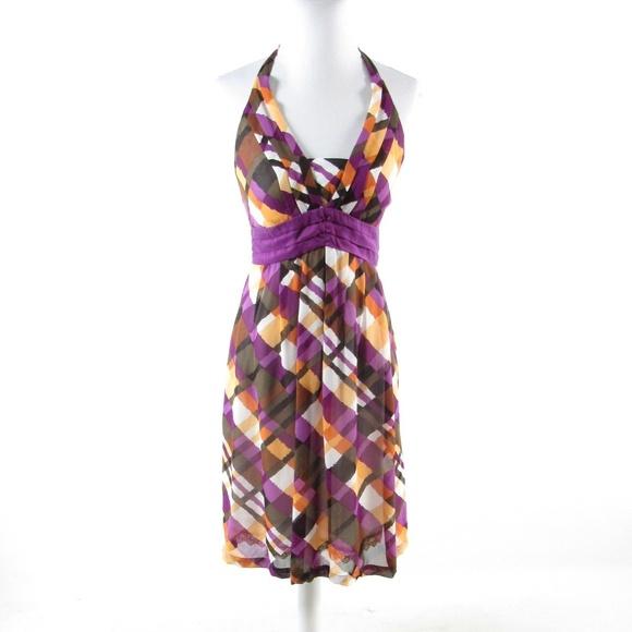 Anthropologie Dresses & Skirts - Anthropologie brown halter dress 6